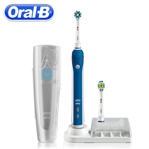 Image 2 - Oral B brosse à dents électrique à ultrasons dents rechargeables blanchiment PRO4000 3D brosse à dents intelligente 2 têtes de dents de brosse de rechange