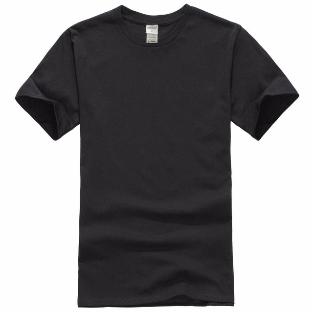 2018 New Solid color T Shirt Mens Black And White 100% cotton T-shirts Summer Skateboard Tee Boy Skate Tshirt Tops 2