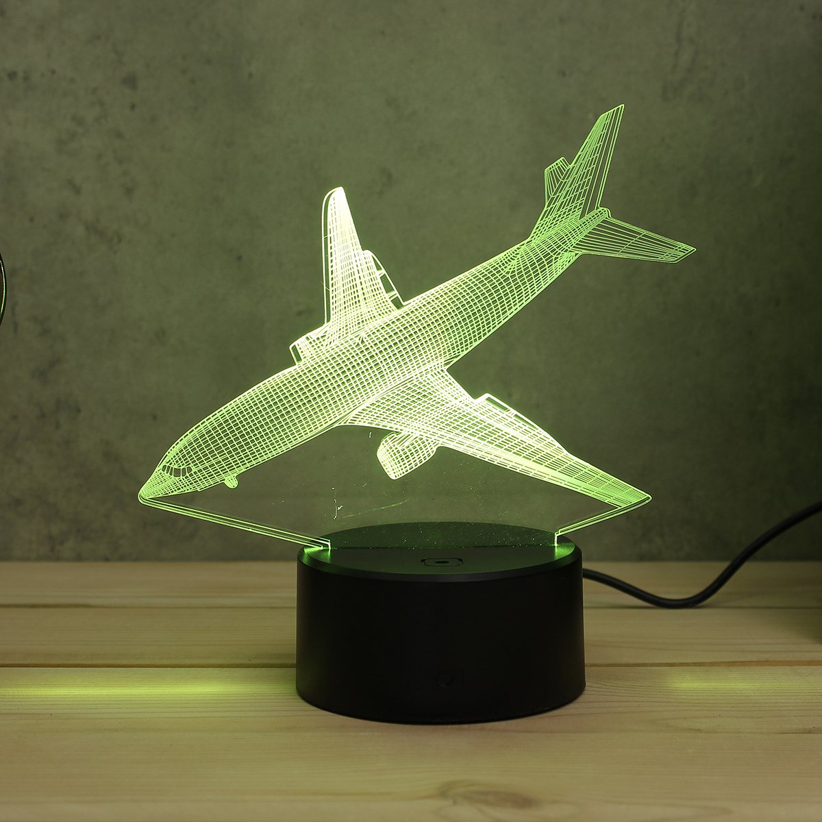Flugzeug Acryl FÜHRTE 3D Led-nachtlicht Spielzeug Lampe Air flugzeug Nacht Touch Tabelle 7 Farbe Schreibtisch Licht DC5V Für Kind weihnachten