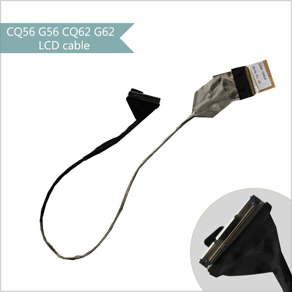 YTAI LCD LVDS cable for HP Compaq Presario CQ56 G56 CQ62 G62 laptop screen video display flex cable DD0AX6LC000 tablet lcd flex cable for microsoft surface pro 5 model 1796 lcd dispaly screen flex cable m1003336 004