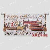 Berthing Wall Hanging Tapestry Cotton Home Textile Deco Tapiz Gobelin Tapisserie Arazzo Medievale GT016
