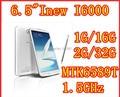Inew I6000 6.5 pulgadas MTK6589T Quad Core android 4.2 IPS1920X1080 2 GB / 32 GB 13MP cámara dual sim 3 G GPS WIFI FM teléfono móvil