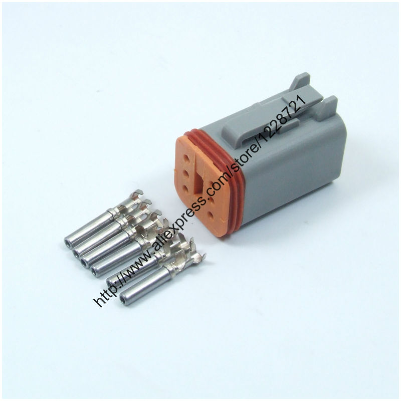 6 Way Plug Connector Kit Dt06 6s 6 Pins Female Wire