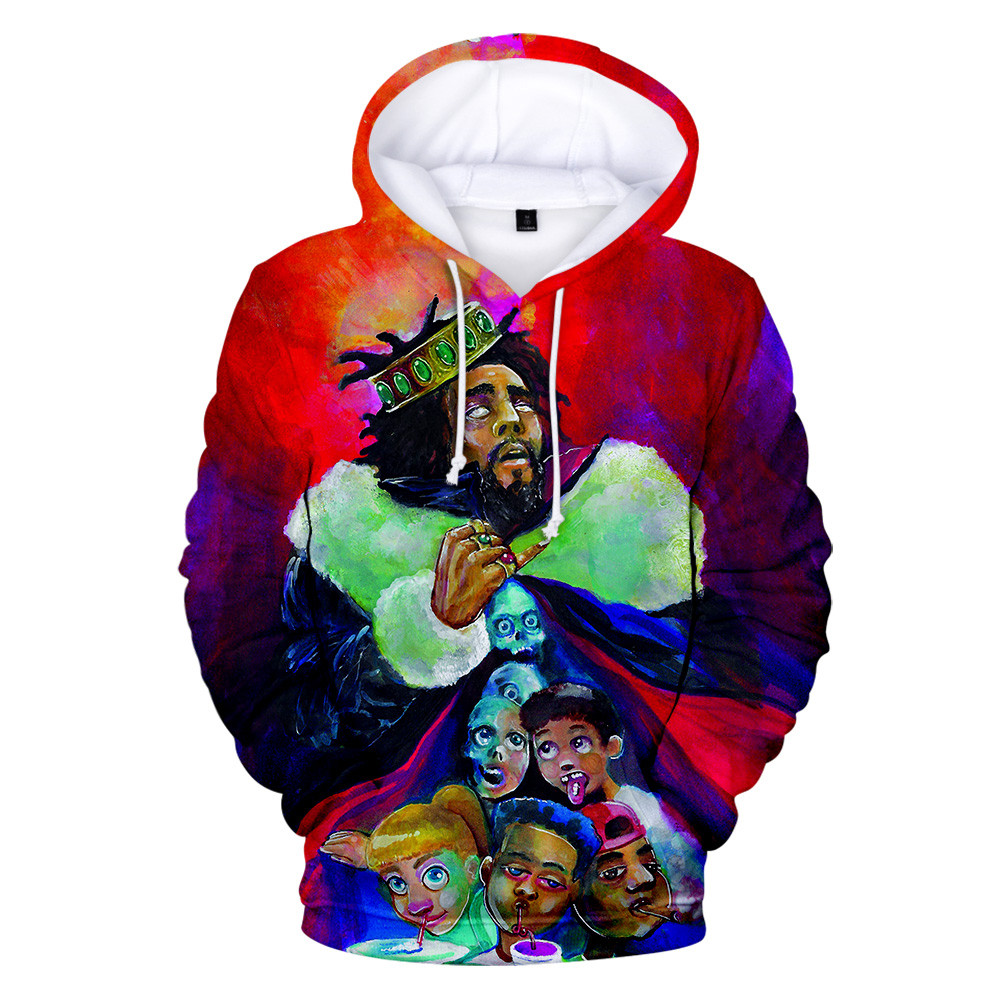 J.Cole 3d Print Hoodies Sweatshirts King Cole Pullover Hoodie Sweatshirt Men Women Hip Hop KOD Streetwear Jacket Coat Clothes