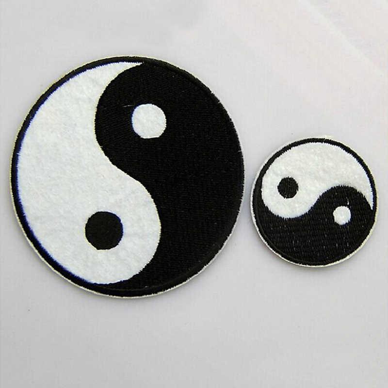 1 PC Tai Cina Taoisme Simbol Bordiran Ying Yang Klasik Patch Pakaian Bordiran Feng Shui Yin Yang Besi Di Bordir patch