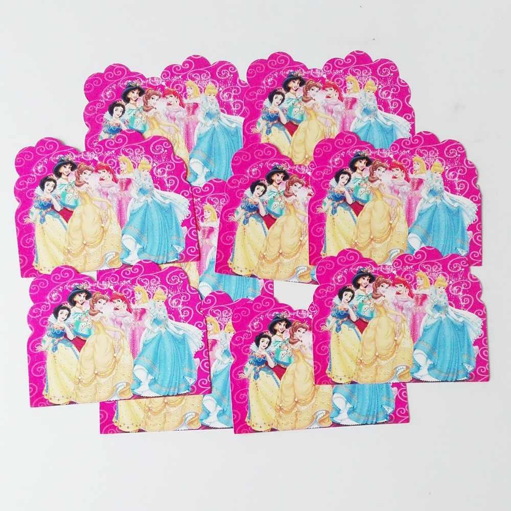 10 個おかしい女の子 3 王女の誕生日パーティーの招待状パーティー用品とイベント装飾好意招待 Card15