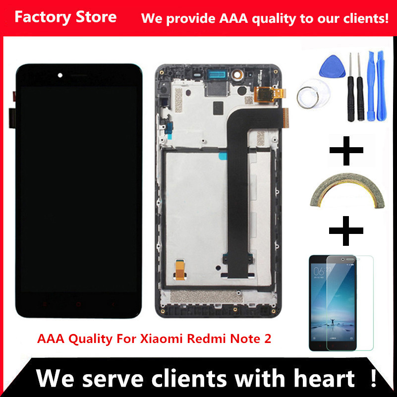 imágenes para QYQYJOY NoDead AAA Calidad del Pixel LCD Para Xiaomi Redmi Nota 2 Pantalla Lcd de Repuesto Para Hongmi Nota 2 Digiziter Aseembly