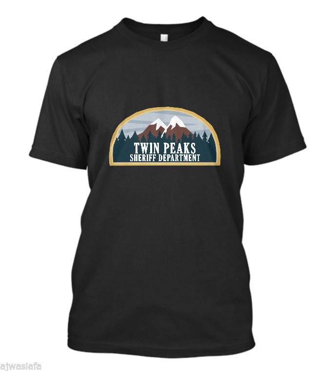 2018 Fashion New Twin Peaks Sheriff Department Mens T-Shirt Men T Shirt Print Cotton Short Sleeve T-shirt