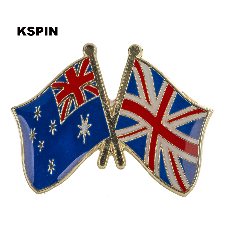 Badges Fast Deliver Australia Ireland Friendship Flag Label Pin Metal Badge Badges Icon Bag Decoration Buttons Brooch For Clothes 1pc