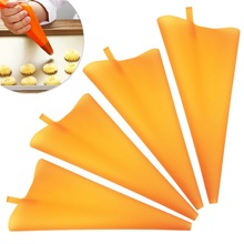 TTLIFE New S M L Sizes Silicone Reusable Pastry Bag Piping Cake DIY Cupcake Decorating Bags Kitchen Cakes Supplies