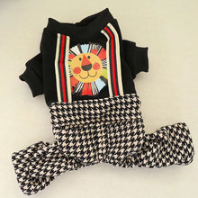 Dog clothes Cute Printed Jumpsuits Plaid Puppy Rompers For Coat Chihuahua Pomeranian Dogs Clothing XS S M L XL
