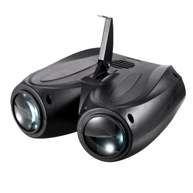 Bifi-portable musique Auto/son activé 128 LED RGBW lumières Double tête Laser effet de scène éclairage Club Disco DJ fête Bar KTV