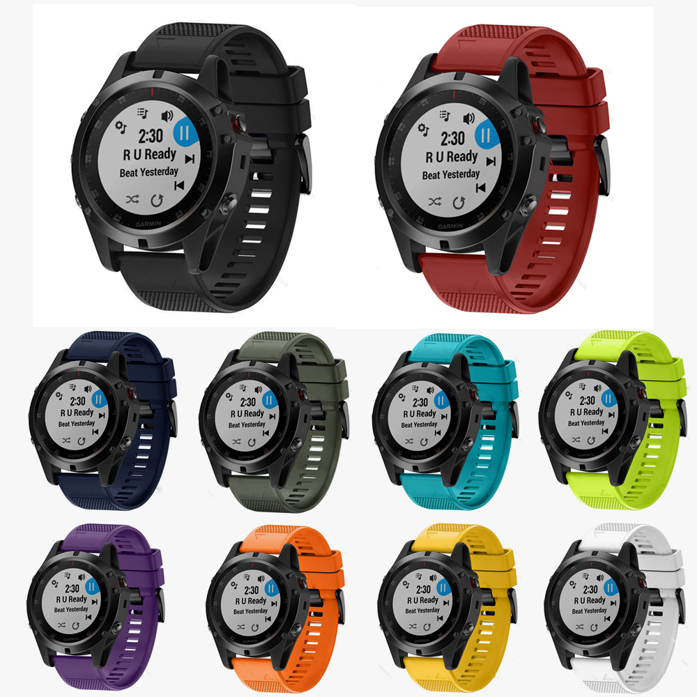 Strap Wristband Watch Smart-Watch-Band Quick-Release Garmin Fenix Easyfit Silicone 5x5