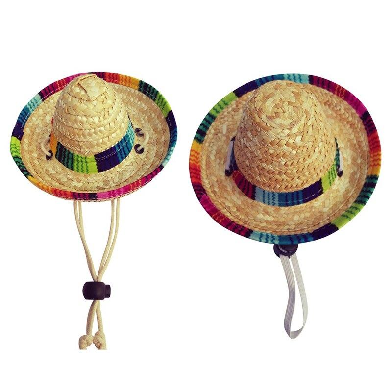 Sombrero mexicain jaune chapeau de paille ajouter moustache CIGAR Bandit COSTUME ROBE FANTAISIE