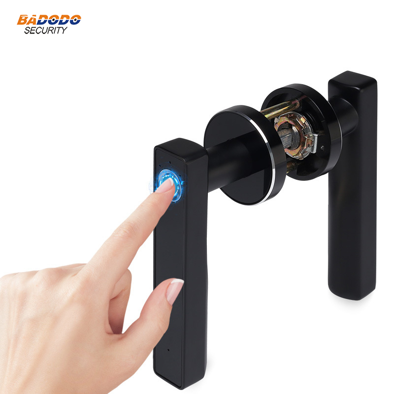 Intelligent semiconductor Fingerprint Lock Electronic biometric fingerprint Door Lock for indoor home use Simple design