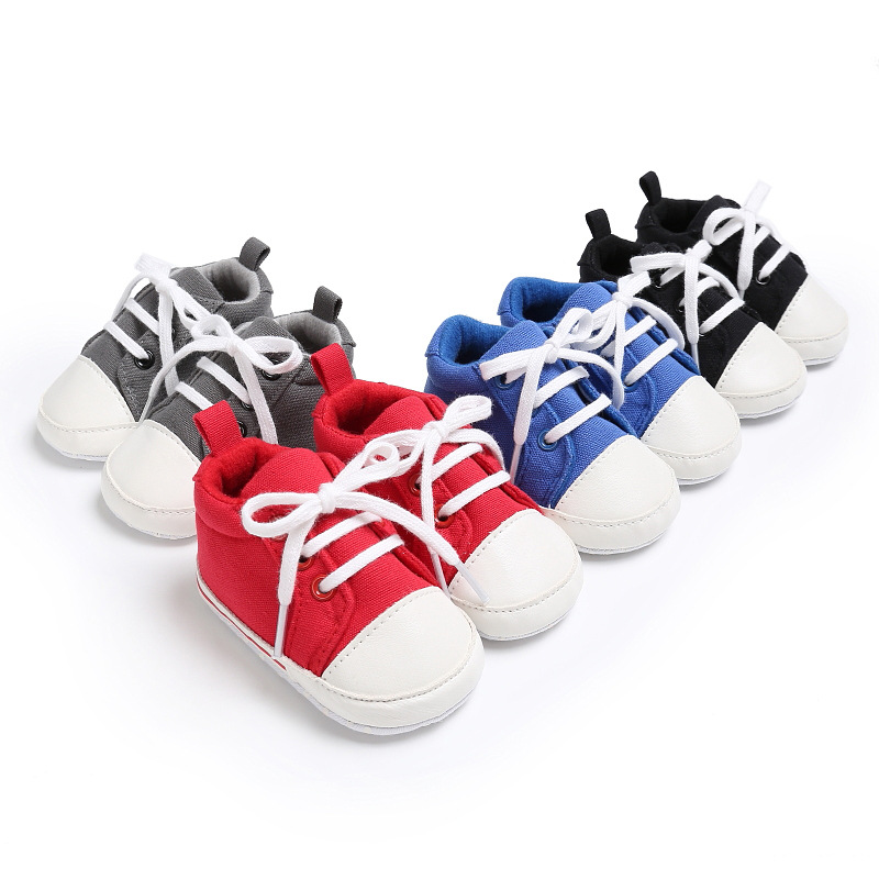 Toddler Shoes Canvas Non-Slip Soft-Bottom Newborn-Baby Classic