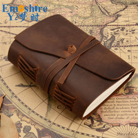 100% Genuine Leather Traveler's Notebook Travel Diary Journal Vintage Handmade Cowhide Gift traveler Lettering Memo Pad N154