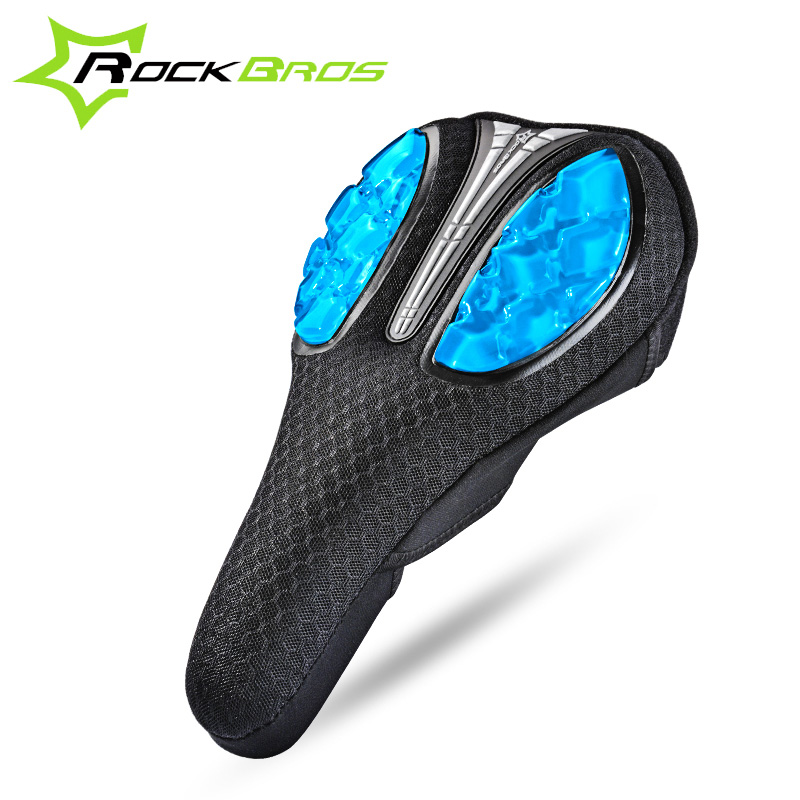 ROCKBROS Bicycle Saddle Cover Liquid Silicon Gels Bike Saddle Cover Cycling Seat Mat Comfortable Cushion Soft Seat for MTB Bike