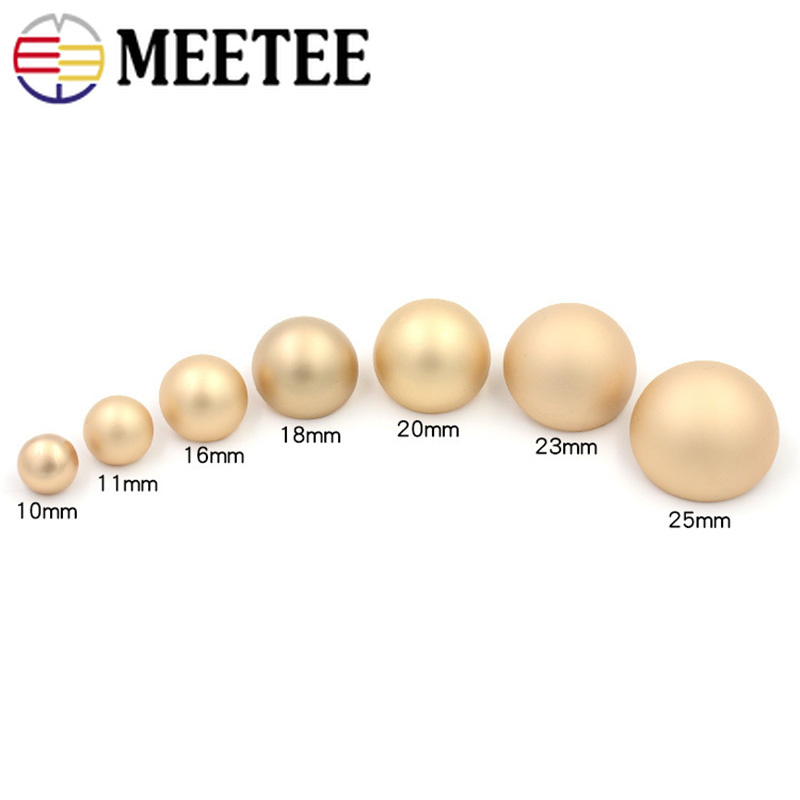 Meetee 11 25mm 10pcs High quality Metal Mushroom Shank Button Coat Decoration Buckles DIY Garment Scrapbooking Sewing Accessory in Buttons from Home Garden