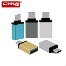Metal Type-C Male to USB 3.0 Female Converter Mini Size USB 3.1 Type C Adapter Gray Silver