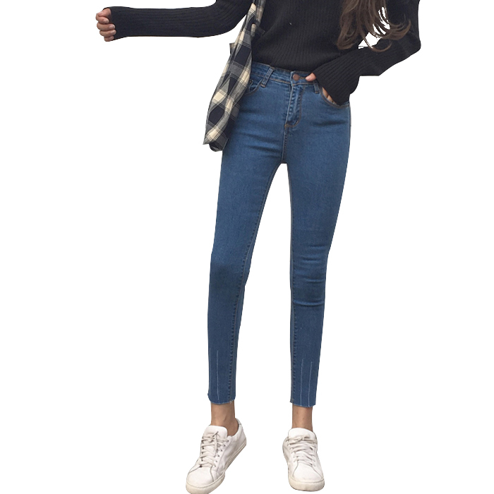 New 2017 Women Skinny Denim Jeans Femme Stretch Plus Size Female High Waist Jeans Vaqueros Mujer Slim Pencil Pants E890 rosicil new women jeans low waist stretch ankle length slim pencil pants fashion female jeans plus size jeans femme 2017 tsl049