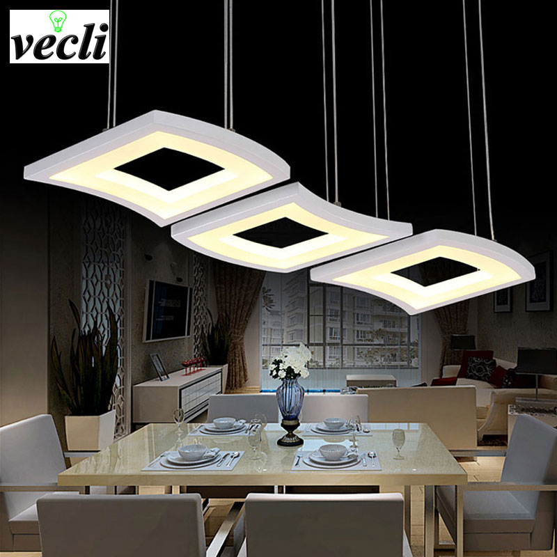 Hanging Dining Room Light: Modern Fashion 3 Heads Dimming Led Pendant Lights