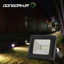Christmas Box Ultrathin LED flood light 10 W 20 W 30 W 50 W Black AC176-264V Waterproof IP65 Outdoor Lighting Spotlight Projector lamp