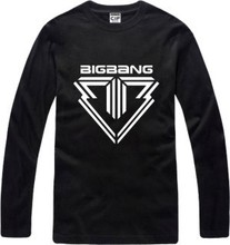 New Men's long sleeve T shirt Slim Bigbang BB ALIVE mini5 Cotton Top Casual Hooded Fashion