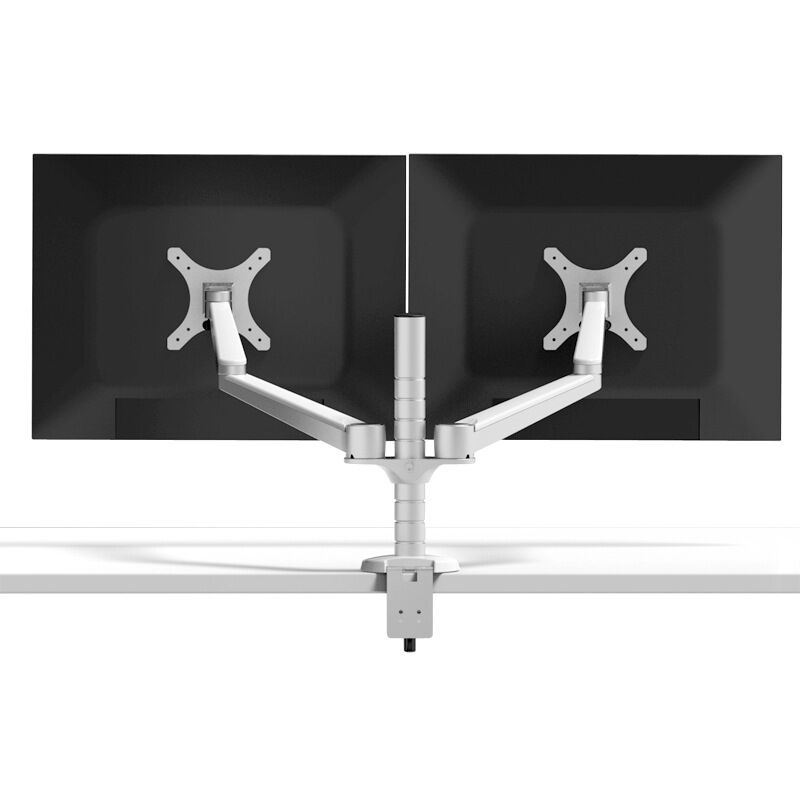 buy oa 4s universal dual monitor stand rotation double arm adjustable desktop holder for computer monitor within 27 inch from reliable dual