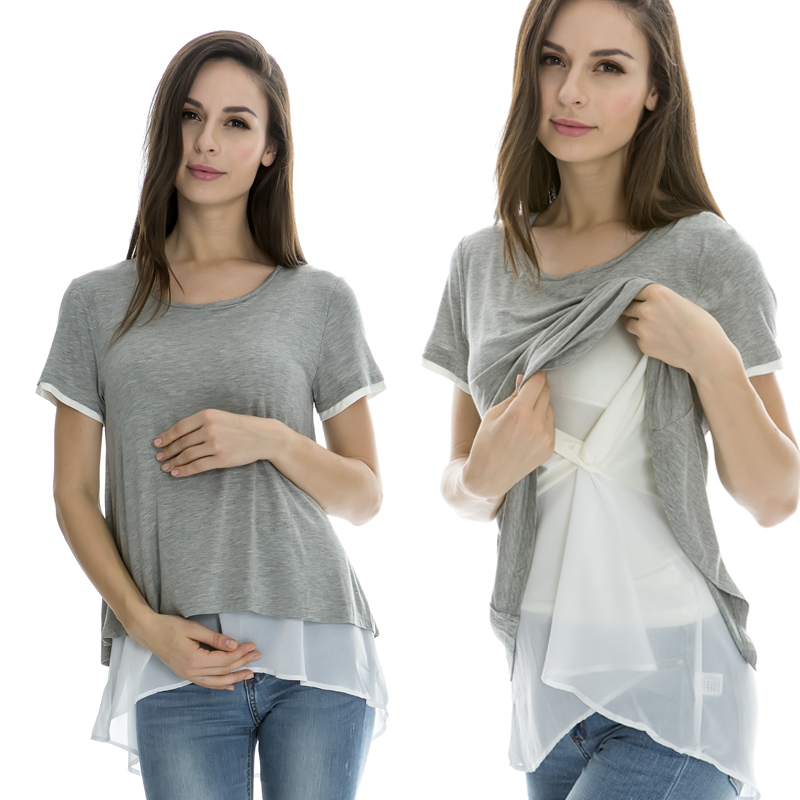 Aliexpress.com : Buy Maternity Nursing Tops Breastfeeding clothes ...