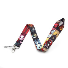 V178 The Nightmare Before Halloween Keychain Lanyards Id Badge Holder ID Card Pass Mobile Phone USB Key Strap
