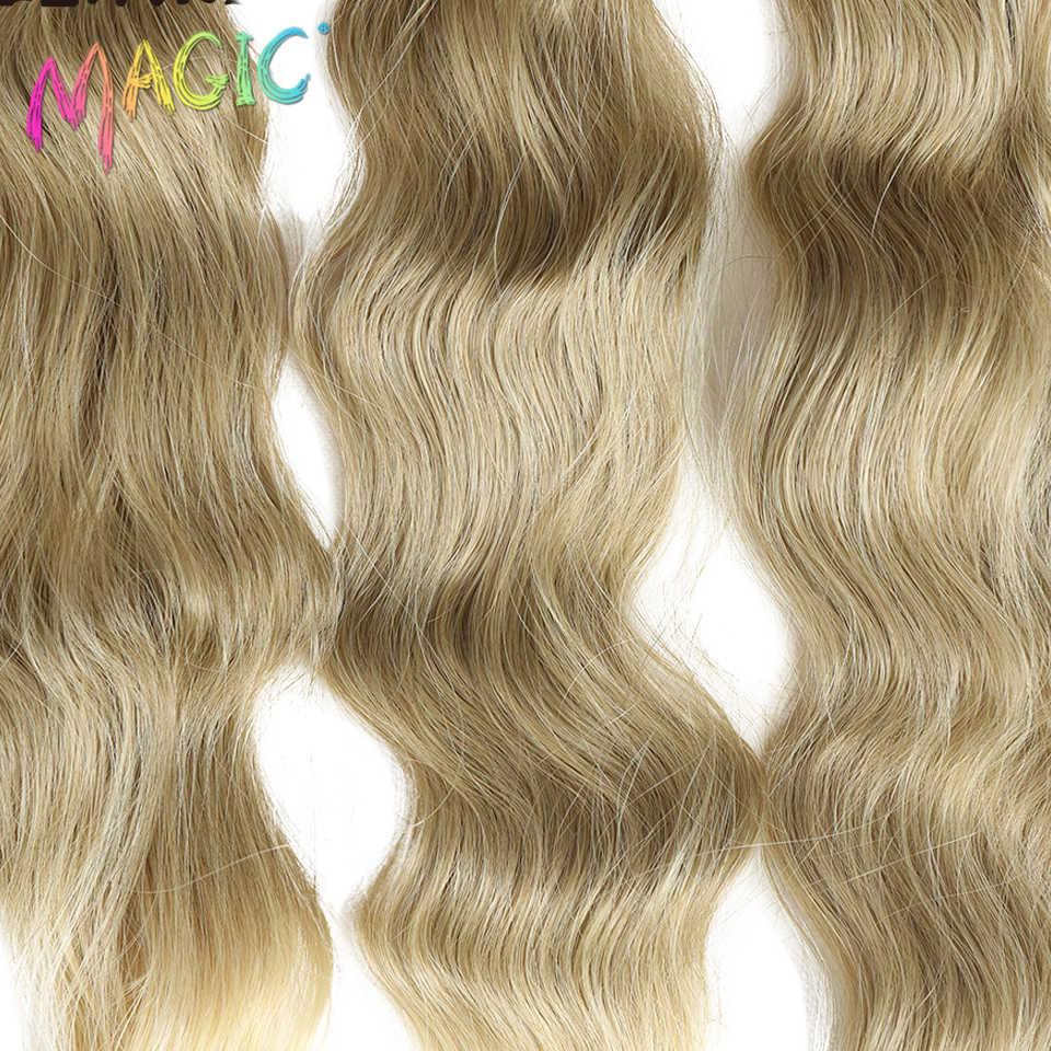 """M локоны тело 16 """"18"""" 20 """"дюймов Синтетические густые волнистые волосы плетение 18"""" цвет пучки синтетические волосы для наращивания для задней части женщин"""