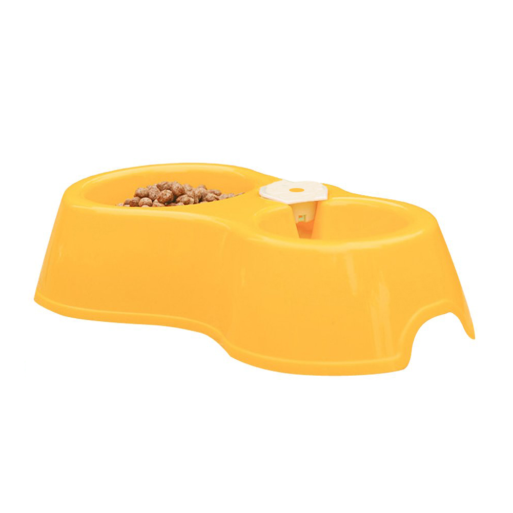 Popular New Pet Dog Puppy Cat Automatic Water Dispenser Drink Food Dish Feeding Bowl Yellow Best Selling