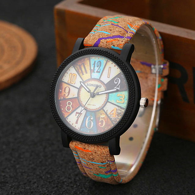 New Simulate Wood Watch Men Quartz Male Sports Wristwatch Fashion Casual Leather Watches Neutral Clock High Quality Relojes
