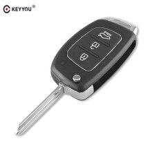 مفتاح التحكم عن بعد KEYYOU 10 قطعة/الوحدة مفتاح السيارة بأزرار 3/4 غطاء مقلب قابل للطي لسيارة Hyundai ELANTRA New Verna