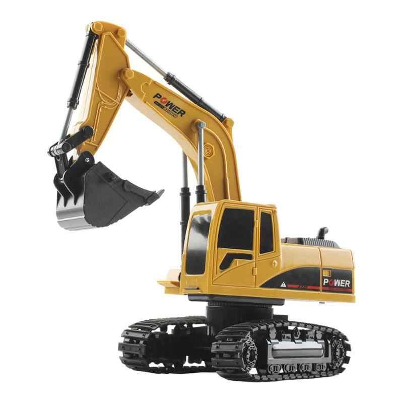 5 kanaals RC Truck Graafmachine Afstandsbediening Simulatie Crawler Tractor Speelgoed met Licht