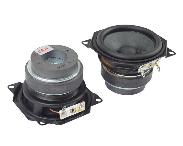 2.5 Inch Full Range Speaker Unit Bluetooth Speakers DIY Portable Soundbox Desktop Frequency 6Ohm 5W Rubber Edge 62Mm 2Pcs