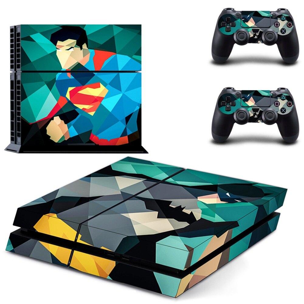 Ps4 Vinile Della Decalcomania Della Pelle Della Copertura per Sony Playstation 4 & Remote Controller Wireless Dualshock 4 Adesivi-Batman v Superman