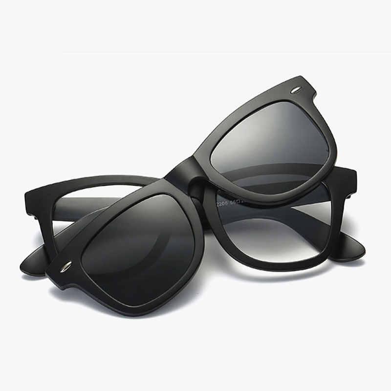 e936cfe9911d ... Reven Jate Polarized Sunglasses Frame Magnetic Glasses Frame Tr-90  Plastic Clipo-ons for ...