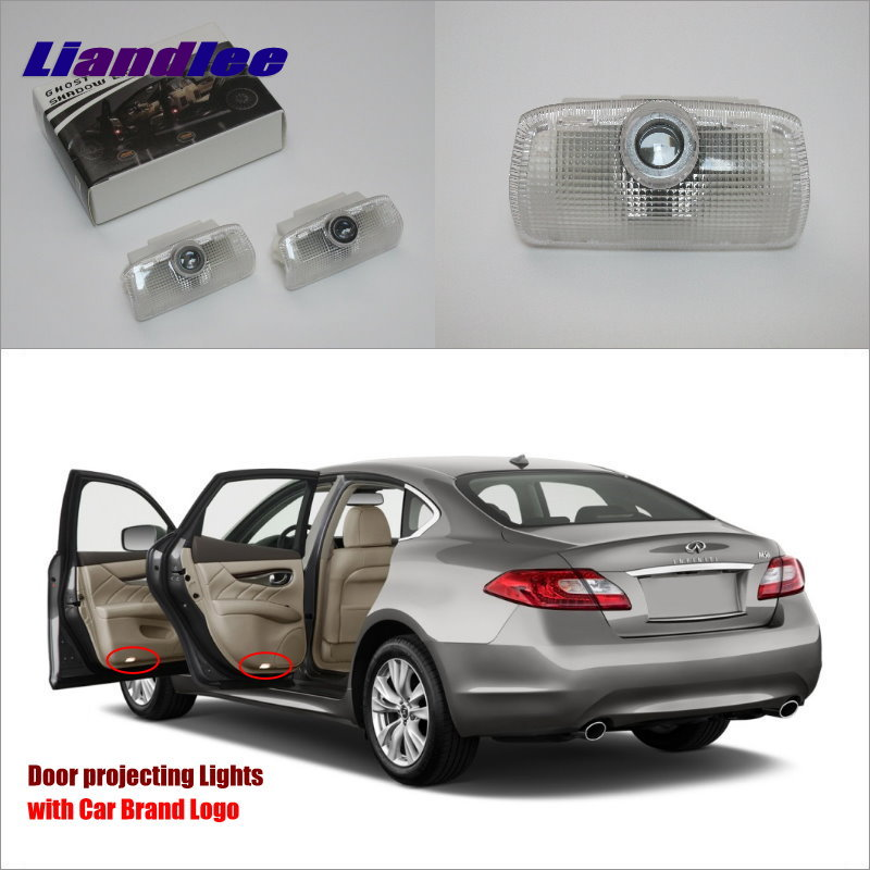Liandlee For Infiniti EX M Series 2008 2013 Door Ghost Shadow Lights Car LED Projector Welcome Light Courtesy Doors Lamp in Signal Lamp from Automobiles Motorcycles