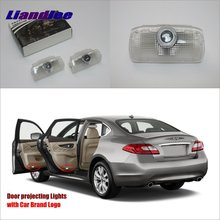 Liandlee For Infiniti EX / M Series 2008~2013 Door Ghost Shadow Lights Car LED Projector Welcome Light Courtesy Doors Lamp