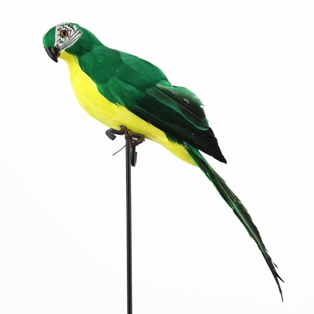 Foam Animal Statues Lifelike Lawn Figurine Ornament for Home Bird Yard Decor for Animal Handmade Tree Simulated Parrot Garden