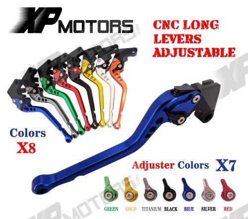CNC Long Adjustable Brake Clutch Lever For Yamaha YBR250 2007 - 2013 2008 2010 2012 NEW for yamaha yzf r15 2013 2016 aluminum cnc adjustable extending brake clutch lever blue