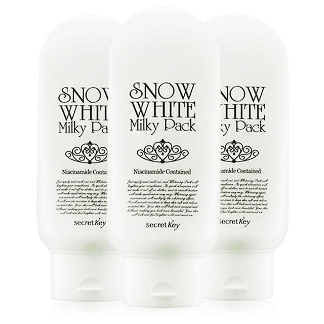 SECRET KEY Snow White Milky Pack 200g * 3pcs whitening pack korea comestic