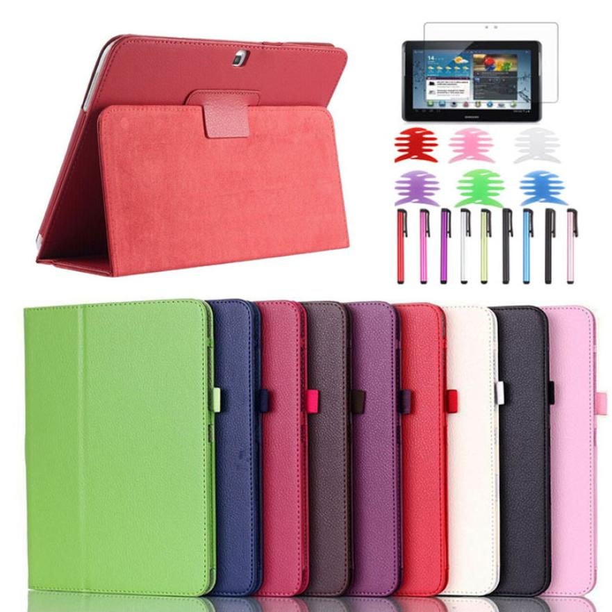 #11 PU Leather Case Stand Cover For Samsung Galaxy Tab 4 10.1Inch SM-T530 Tablet with Film and Pen Reel Tavoletta Tableta Tablet