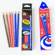 MARCO Pencils 12Pcs Non-toxic colorful Triangle Standard Pencils 2H/2B/HB Professional Chancery Office School Pencil
