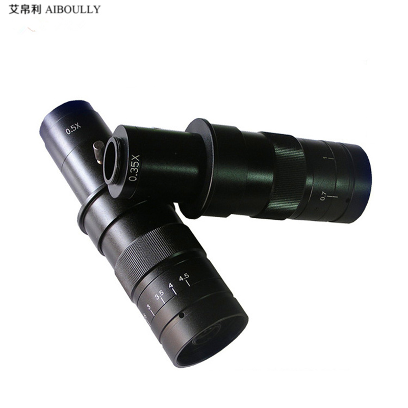 Video Microscope 7-45x c-Mount Lens Electron Microscope Cell Phone Repair Zoom Lens Material Diagnostic Tool Free shipping
