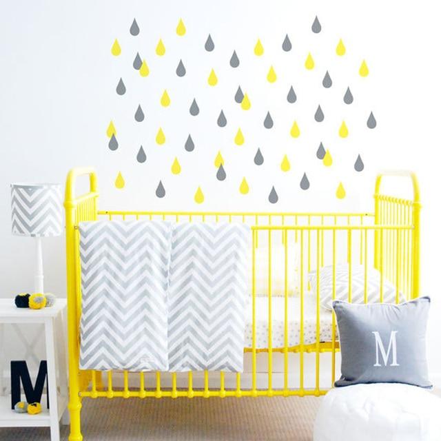 48pcs/set Water Droplets Wall Decals Drops DIY Vinyl Wall Art ...
