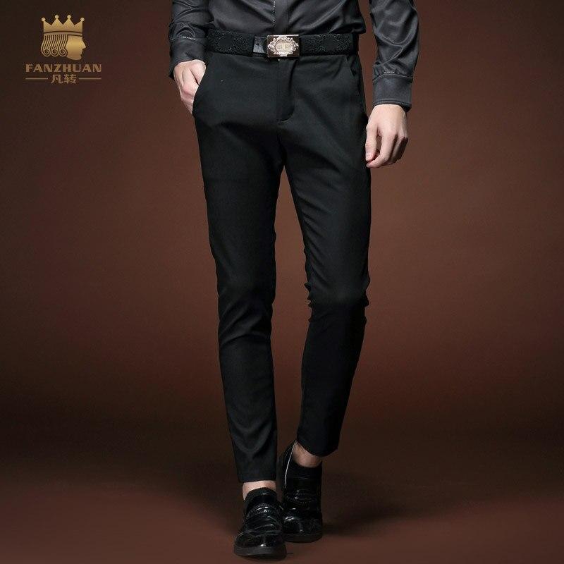 Livraison Gratuite Nouveau Mâle de mode homme Hommes printemps été hommes  casual Slim pieds collants de mode tendance de jeunes pantalon 15812 a512e9196c3