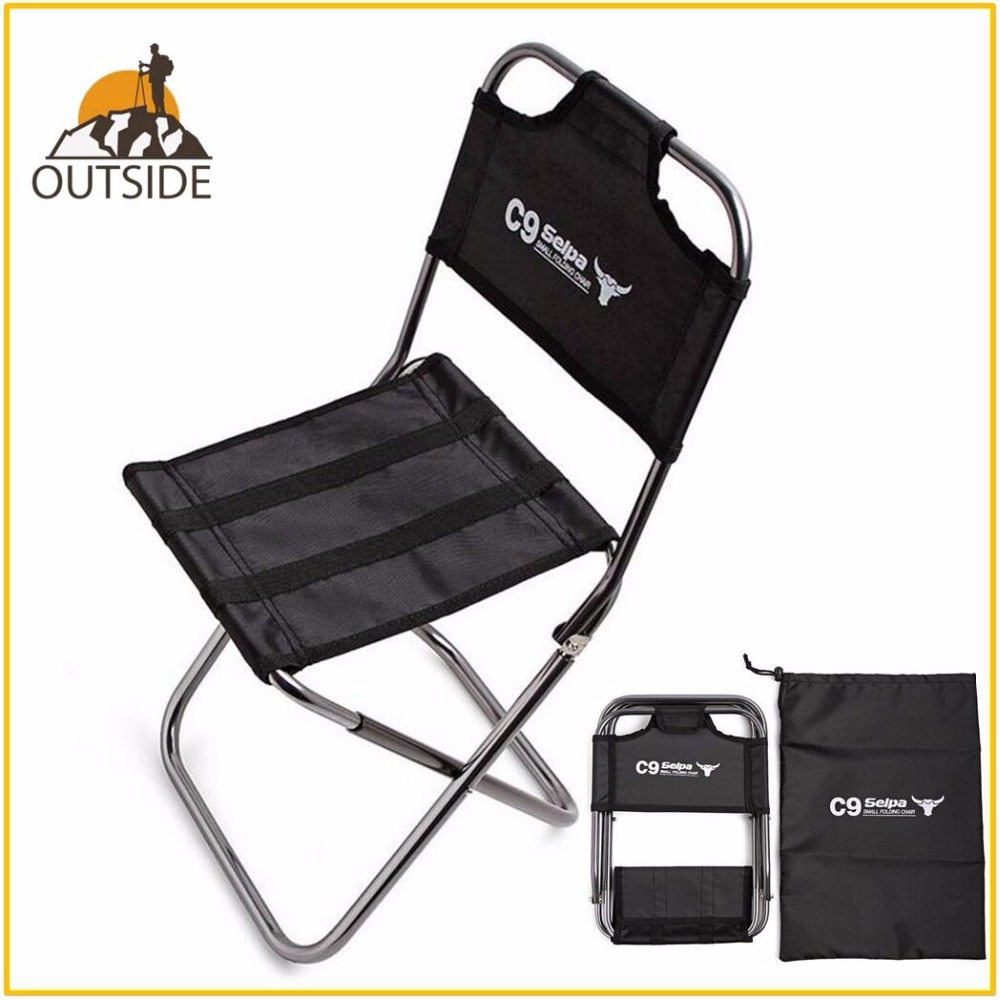 Light Outdoor Fishing Chair by Strong Aluminum Alloy Nylon Camouflage Folding Small Size Chair Camping Hiking Chair Seat Stool-in Fishing Chairs from Sports & Entertainment